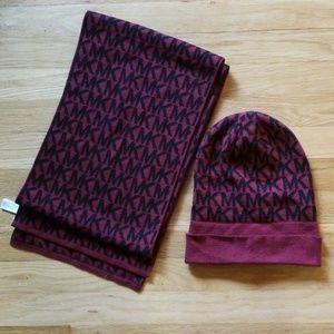 NWOT MK Hat and Scarf